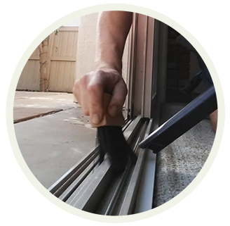 Window track cleaning by Blue Coast Window Cleaning